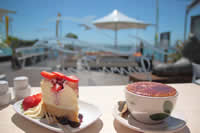 cake and coffee at Portside