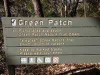 green patch sign