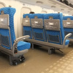 Bullet train wheelchair position